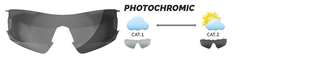 verre photochromique lunettes vélo se teintent en fonction de la luminosité