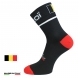 Chaussettes vélo été EKOI NATION Noir Belgique