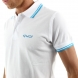 Polo men EKOI Cycling Fun Blanc