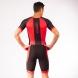 Combinaison triathlon EKOI Longue Distance Noir Rouge