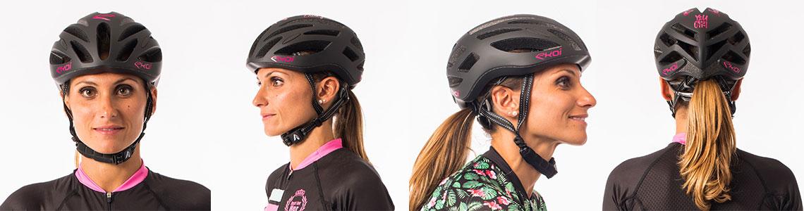 Le casque vélo CORSA EVO LADY des équipes pros AG2R LA Mondiale
