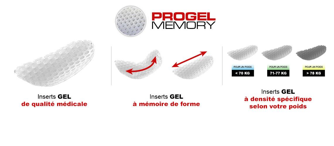 gel cosciale per bici con memorizzazione della forma