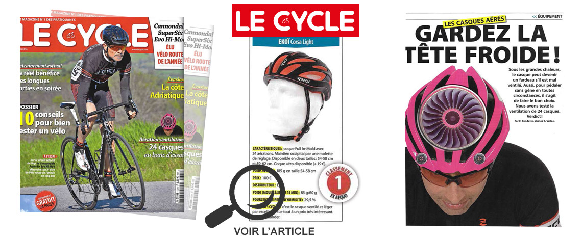 casque ekoi corsa light EKOI dans le magazine Lecycle avril 2016