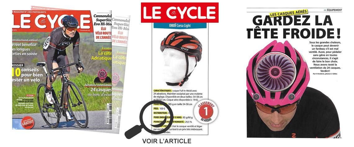 ekoi corsa light EKOI -kypärä Lecycle-lehdessä huhtikuu 2016