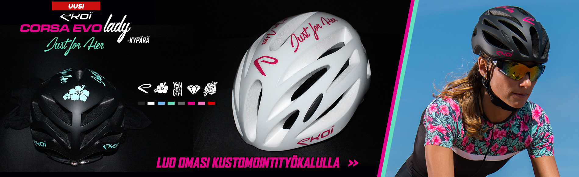 Nouveau casque vélo EKOI LADY personnalisable