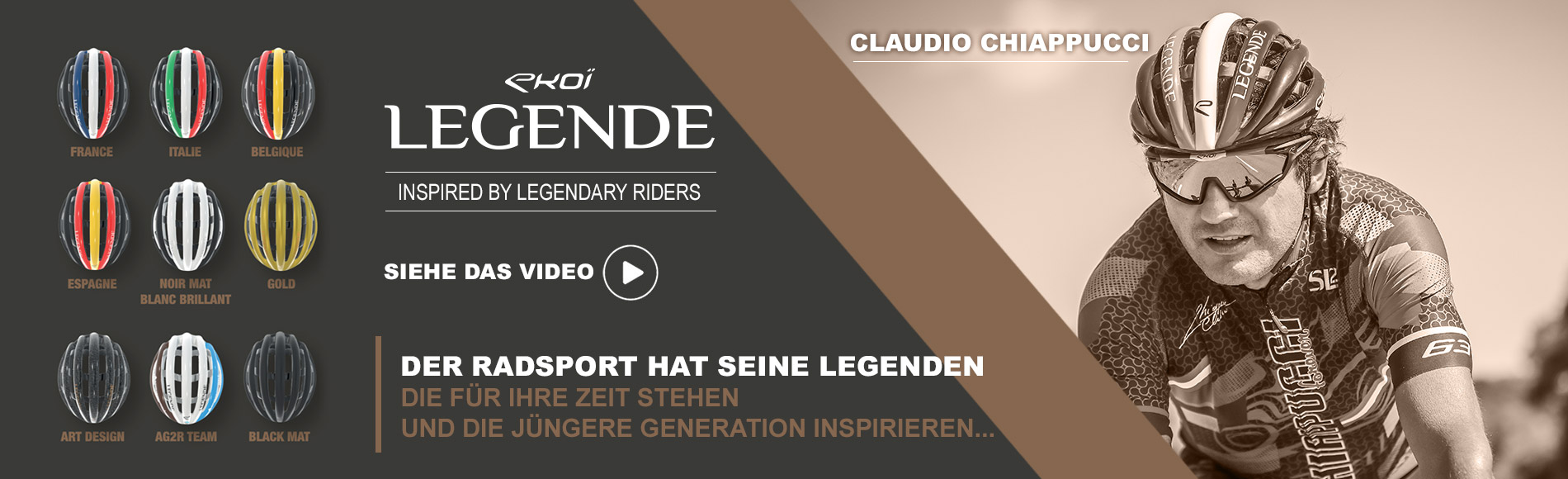 Casque EKOI LEGENDE Claudio Chiappucci