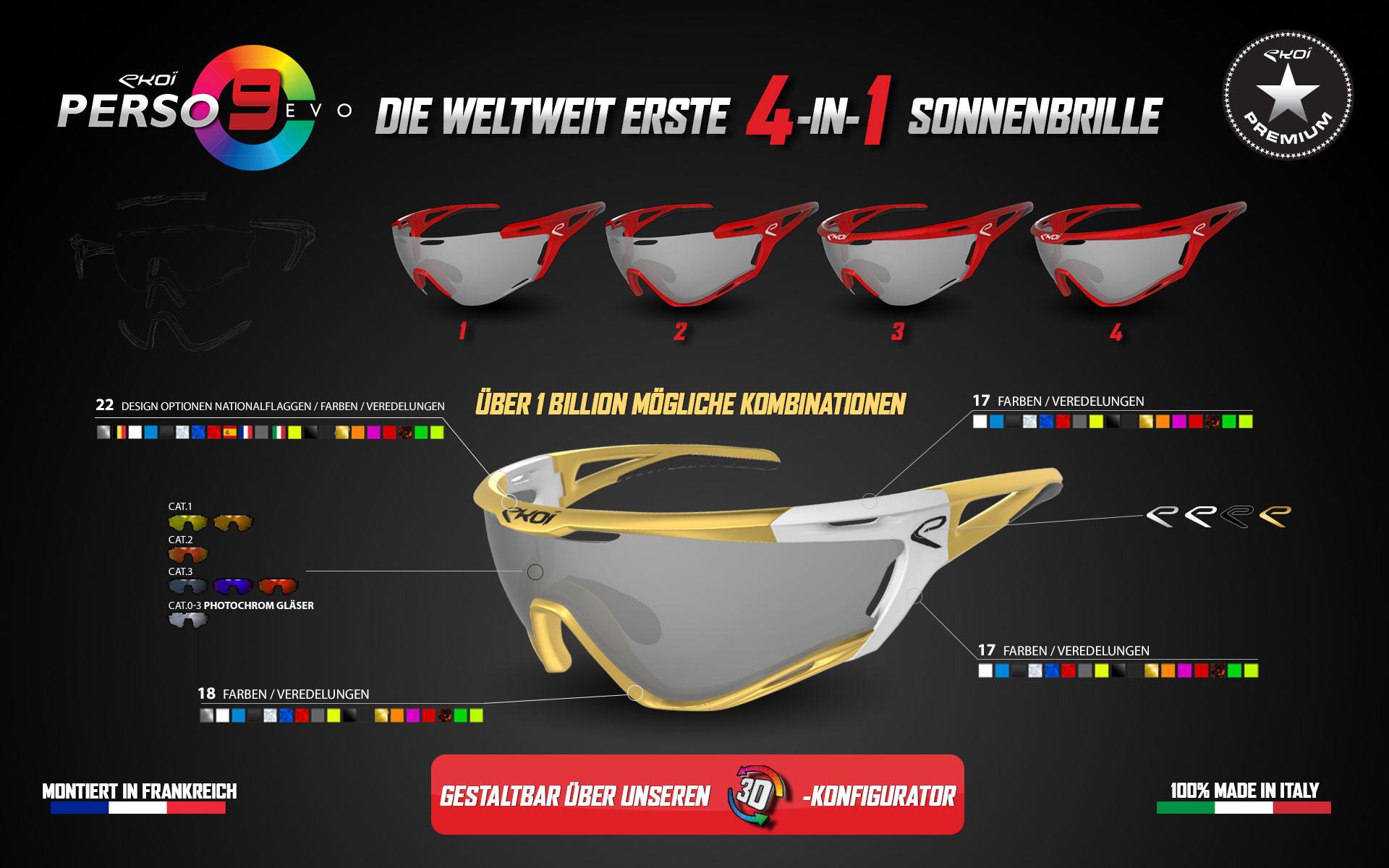 Nouvelle lunettes Persoevo9 EKOI personnalisable