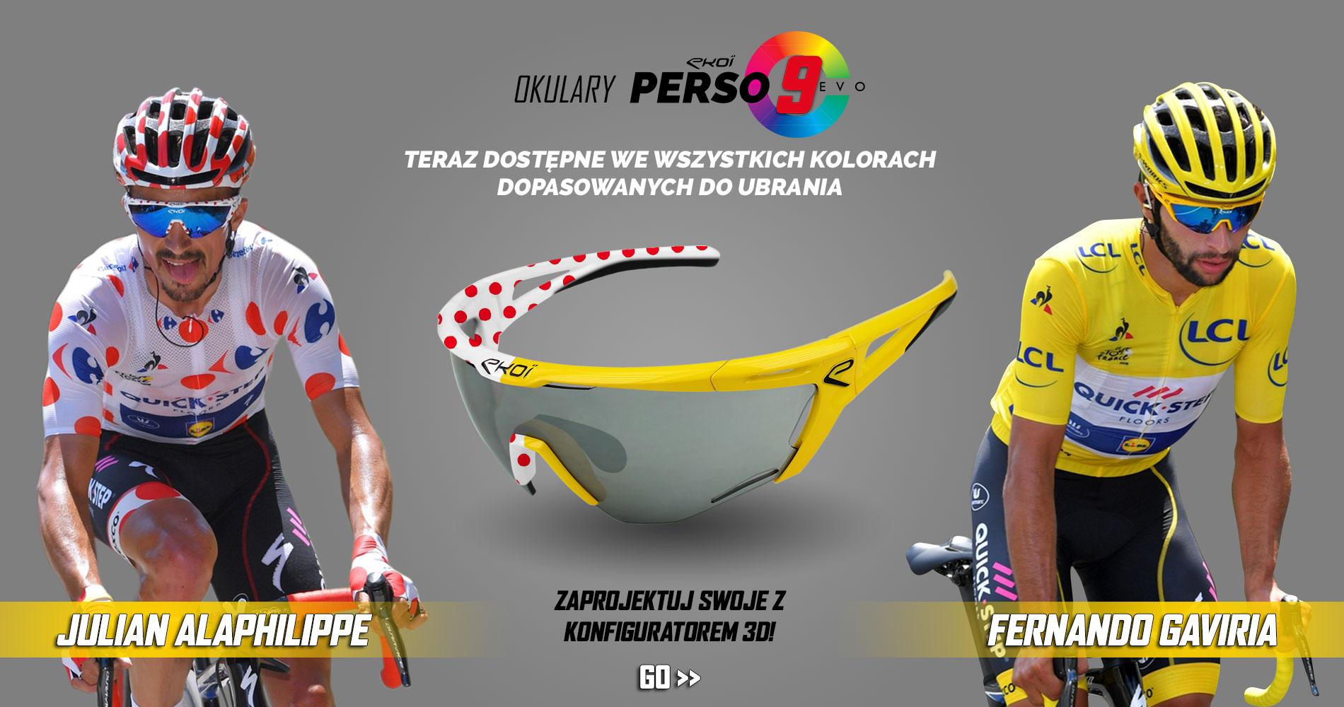 Lunettes EKOI PERSO EVO 9 Fernando Gaviria Tour de France 2018