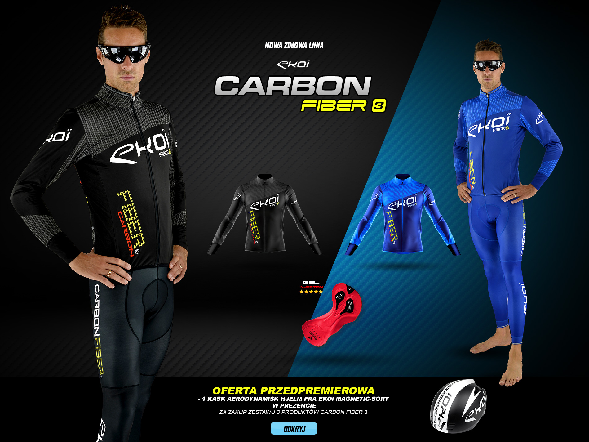 Nouvelle gamme hiver EKOI CARBON FIBER 3