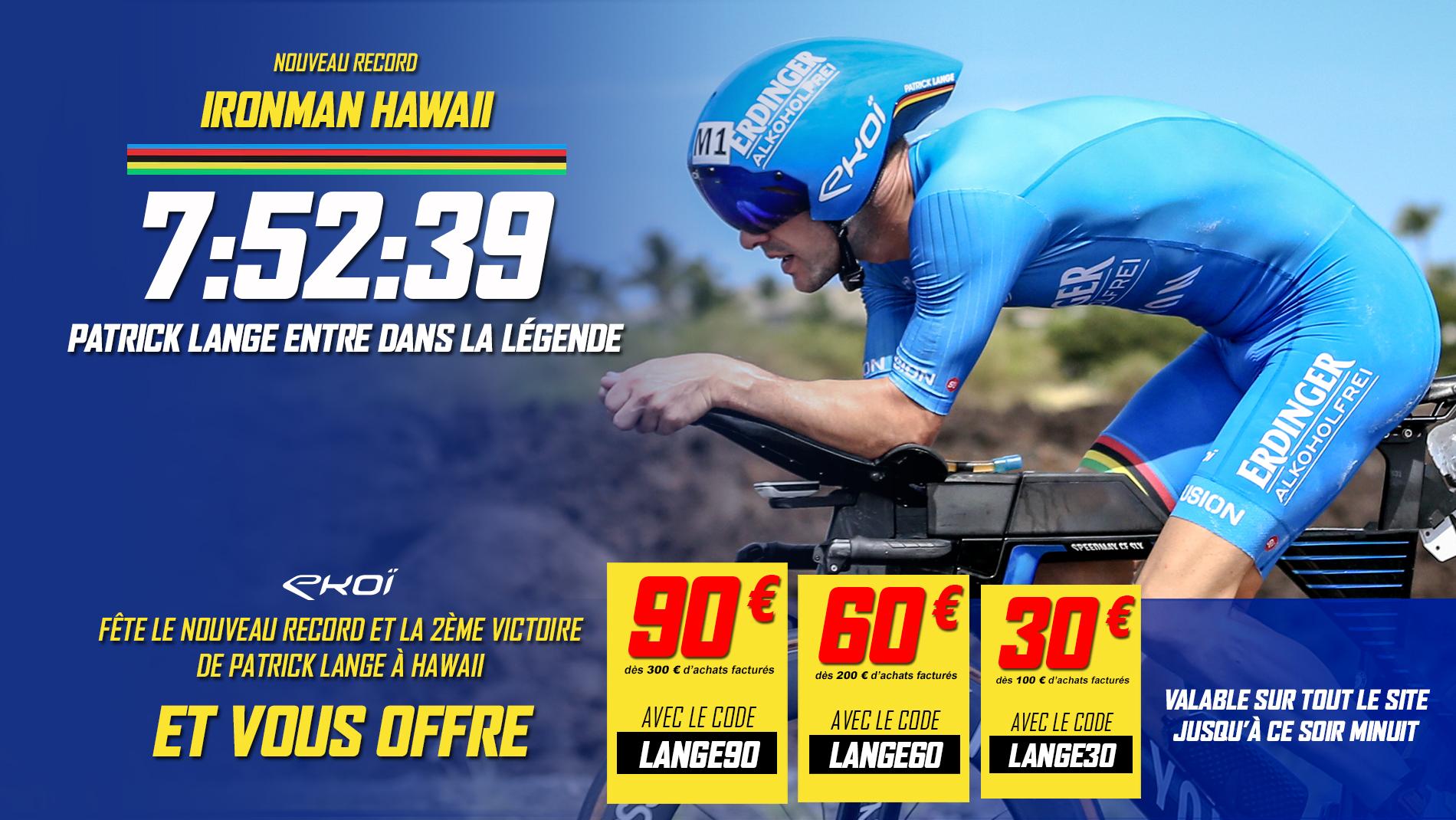 Patrick Lange nouveau record IronMan Hawai