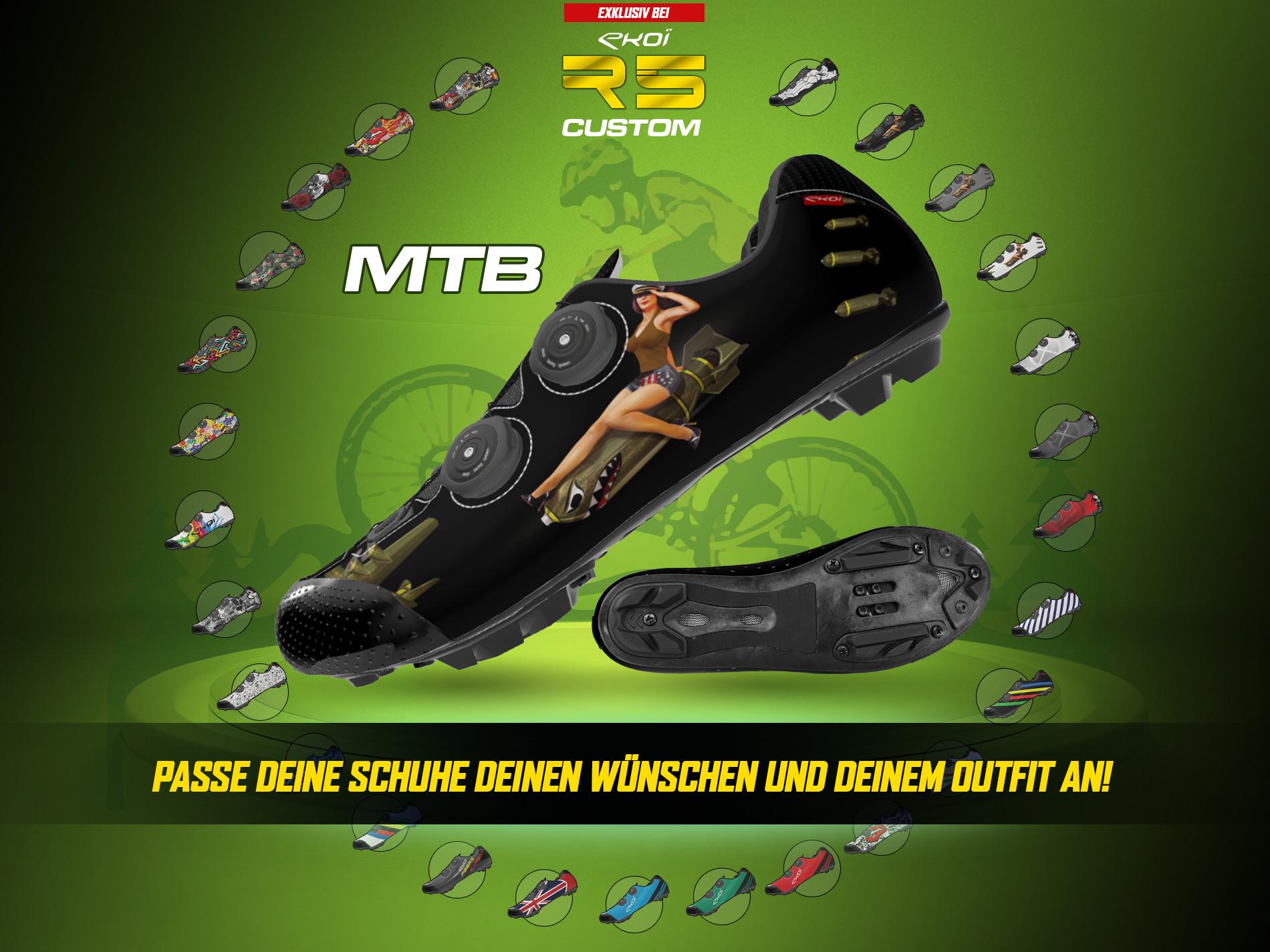 Nouvelle chaussure vélo personnalisable EKOI Custom R5