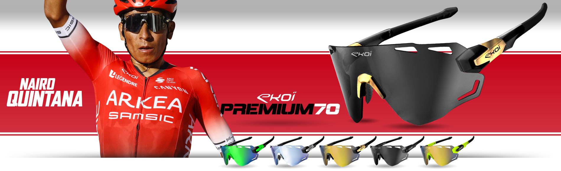 Lunettes vélo EKOI Premium 70