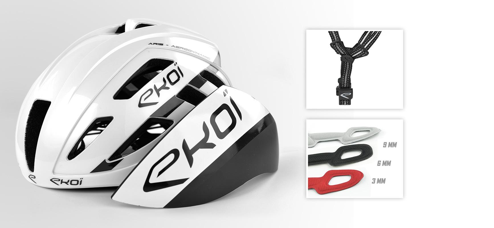 casque vélo AR15 EKOI Team AG2R et Cofidis