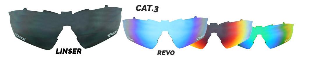 Solglas til cykelbriller revo kategori 3