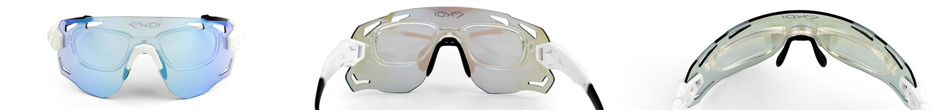 Optischer Einsatz für Fahrradbrillen mit Korrekturgläsern für Ihr Sehvermögen