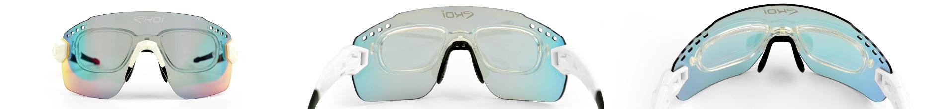 inserto ottico per occhiali da bici EKOI con lenti da vista