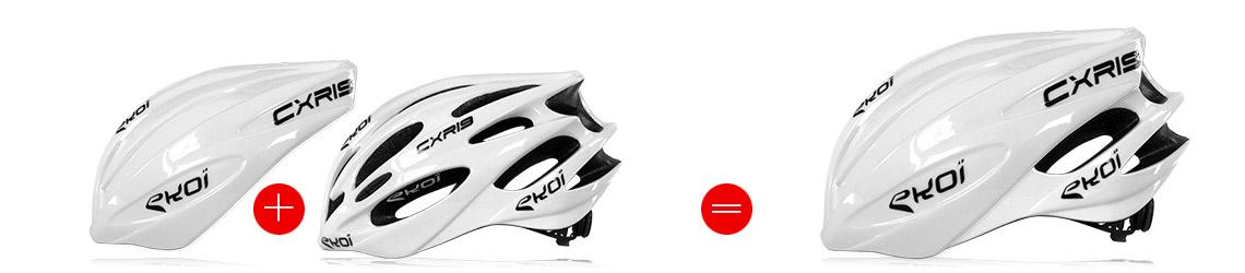 casque vélo route avec coque protection aéro amovible