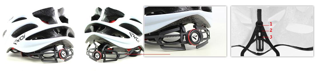 casque vélo route avec maintien réglable en hauteur