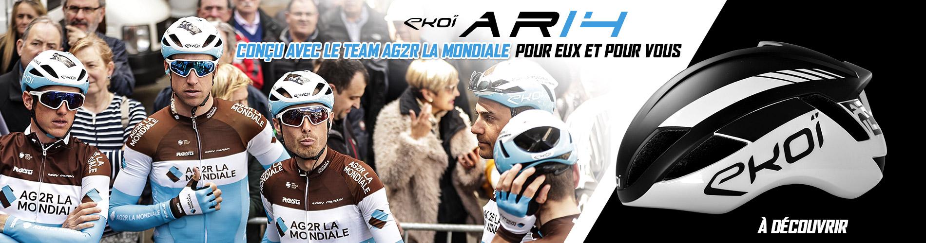 Nouveau casque AR14 EKOI avec le Team AG2R La Mondiale Cycling