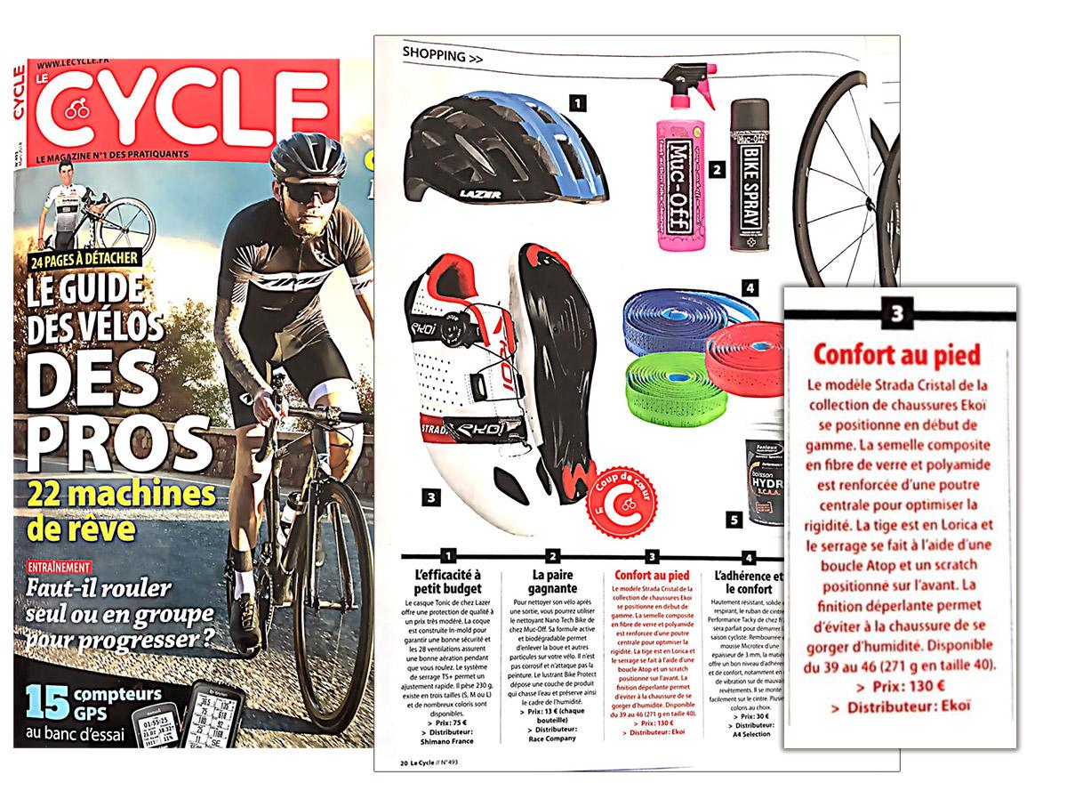 Chaussures vélo route Strada EKOI coup de coeur Magazine Lecycle